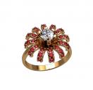 Кольцо в виде цветочка