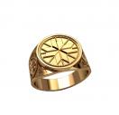 Кольцо монолит Перунов крест