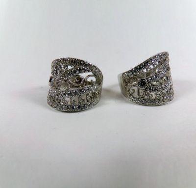 Женское кольцо по технике филигрань