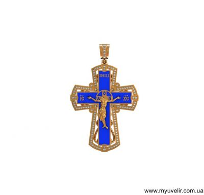 Большой крест с эмалью