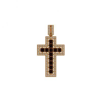 Крест с квадратными фианитами