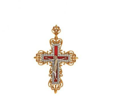 Эксклюзивный крест с эмалью