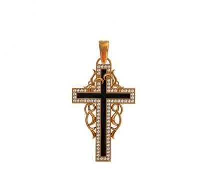 Крест с цирконами