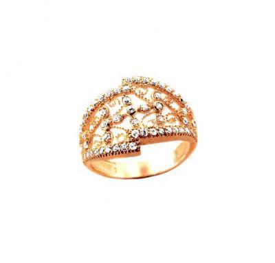 Женское кольцо с филигранью