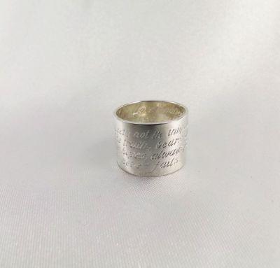 Обручальное кольцо с надписями