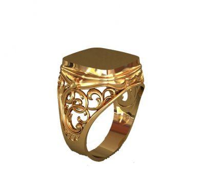 Мужское кольцо с площадкой