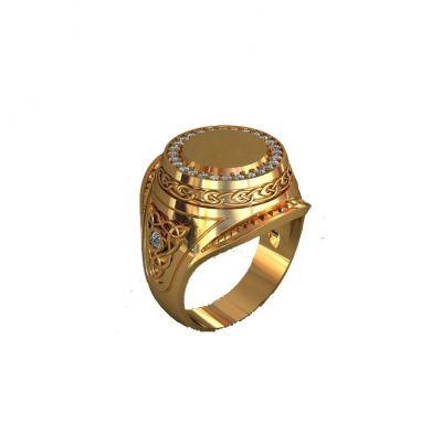 Мужское кольцо узорное