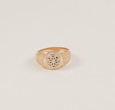 Мужское кольцо со звездой