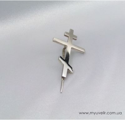 Значок на пиджак в виде креста