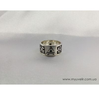 Кольцо с руной и оберегами