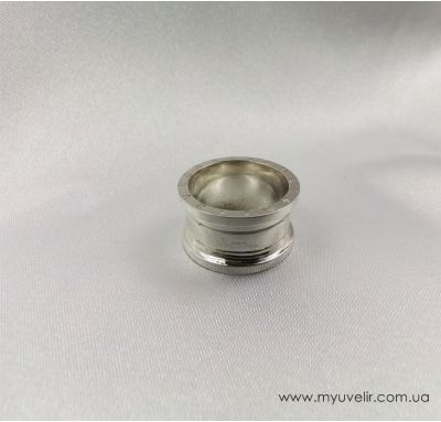 Серебряное кольцо булгари