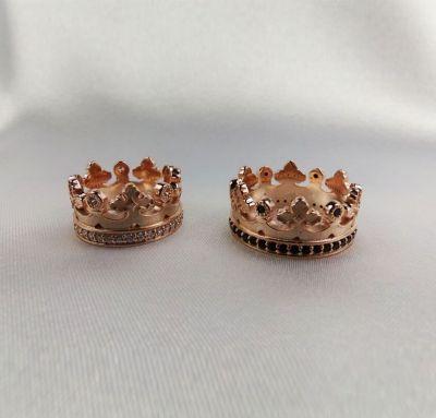 Обручальные кольца в виде корон