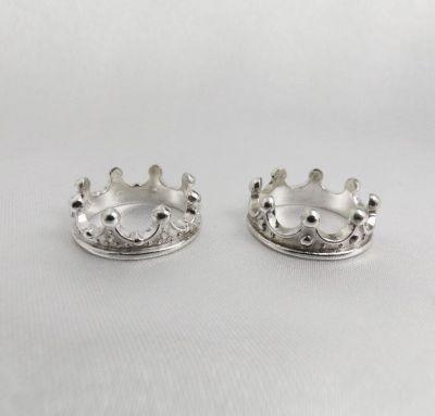 Обручальные кольца короны из серебра