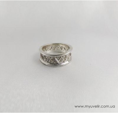 Обручальные кольца  из серебра в виде короны