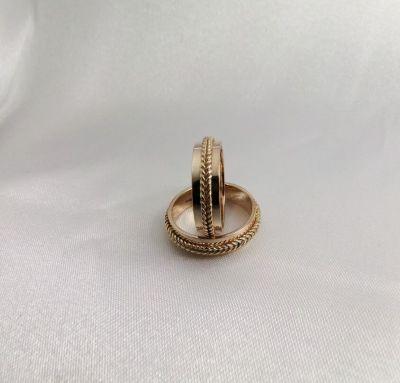 Обручальные кольца косички
