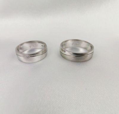 Обручальные кольца классика с матовостью
