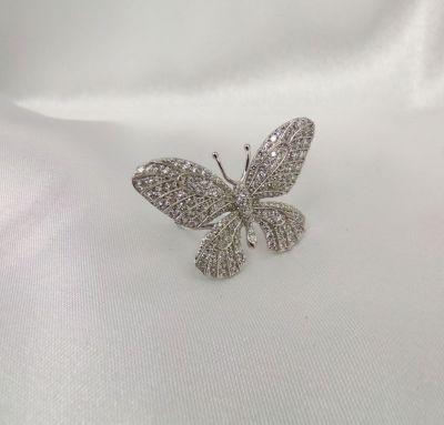Женское кольцо бабочка