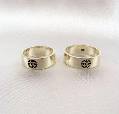 Обручальные кольца с оберегом