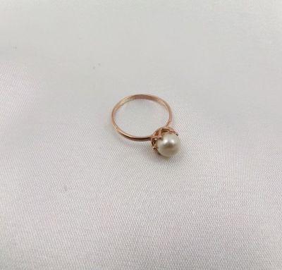 Классическое кольцо с жемчугом