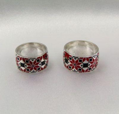 Свадебные кольца вышиванки
