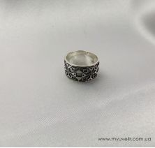 Кольцо вышиванка с чернением
