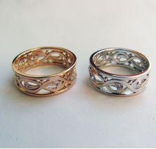 Свадебные кольца узорные