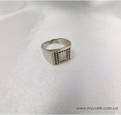 Мужская печатка серебряная