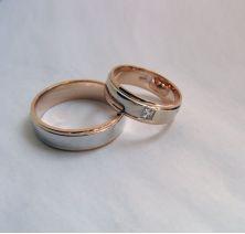 Свадебные колечки комбинированные