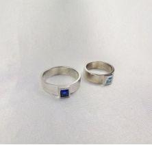 Свадебные колечки с камнями