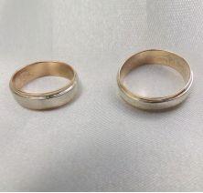 Свадебные колечки двойные