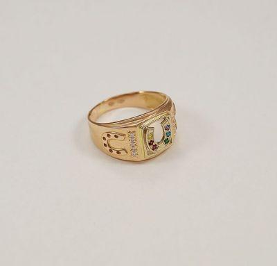 Мужское кольцо с подковой