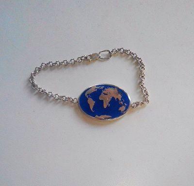 Браслет карта мира