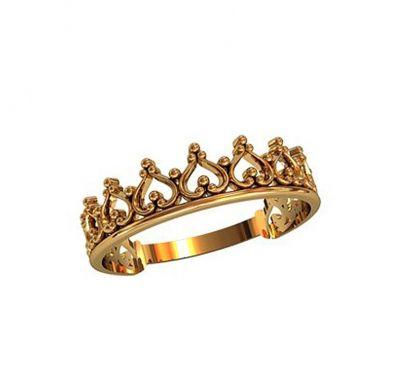 Колечко корона узорная