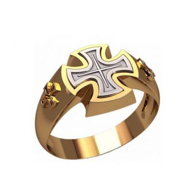 Кольцо крест