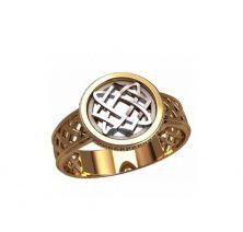 Кольцо с оберегом звезды лады богородицы
