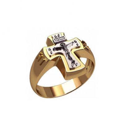 Мужская печатка крест