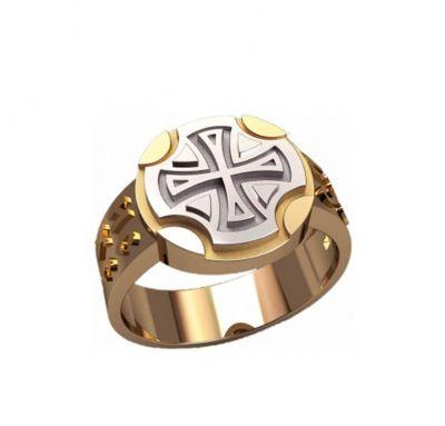 Мужское кольцо с крестиком