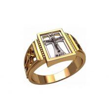 Кольцо крест мужское