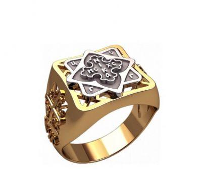 Кольцо православный крест мужское
