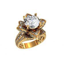 Женское кольцо цветок