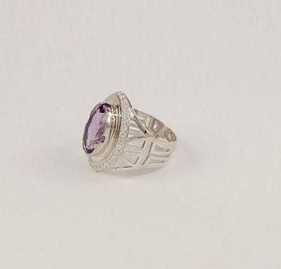 Серебряное роскошное кольцо