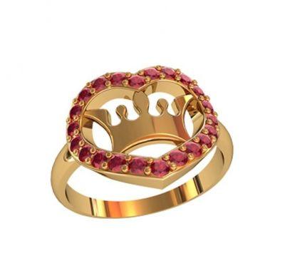 Кольцо в форме сердца