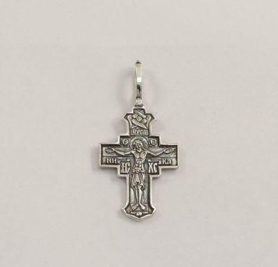 Серебряный крестик на шею
