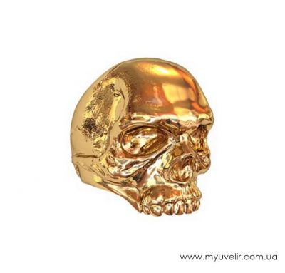 Печатка мужская череп