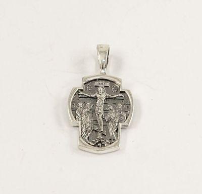 Серебряный крест на шею