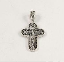 Крестик из серебра православный