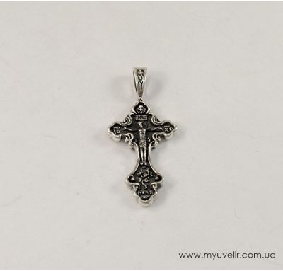 Православный серебряный крестик