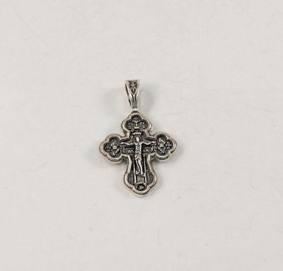 Крестик нательный серебро