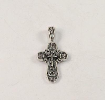 Крест на шею серебро