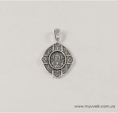 Иконка на шею из серебра